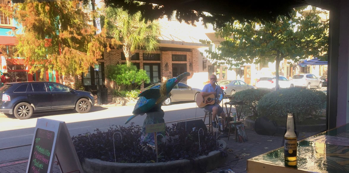 Entertaining Shoppers on Postoffice Street